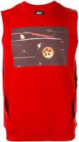 Dust - sleeveless car print T-shirt - unisex - Cotton - M
