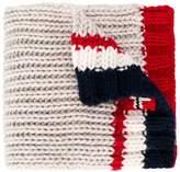 Napapjiri Kids chunky knit ribbed scarf