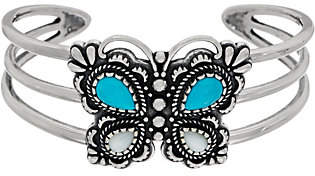 American West Sterling Turq. & Mother of PearlButterfly Cuff
