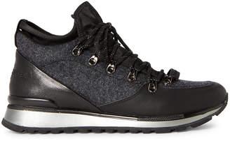 Karl Lagerfeld Paris Grey & Black Hiker Sneakers
