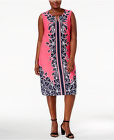 JM Collection Plus Size Printed Shift Dress, Created for Macy's