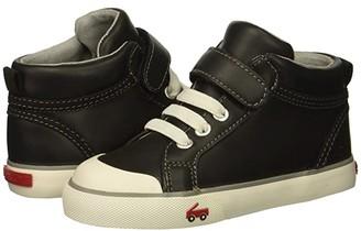 See Kai Run Kids Peyton (Toddler/Little Kid) (Black Leather) Boy's Shoes