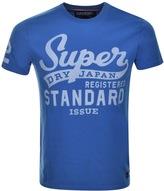 Superdry Vintage Logo Raglan T Shirt Blue