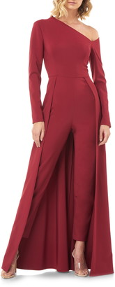 Kay Unger One-Sleeve Maxi Romper