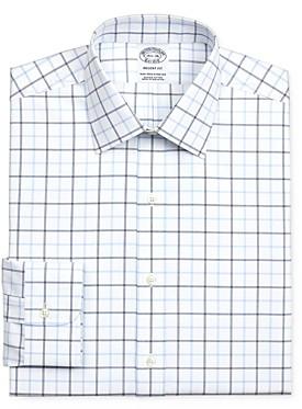 Brooks Brothers Grid Windowpane Regular Fit Dress Shirt