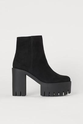 H&M Platform Ankle Boots - Black
