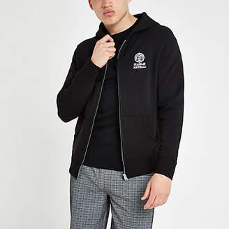 Franklin & Marshall River Island black zip hoodie