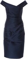 Monique Lhuillier Off-the-Shoulder Dress