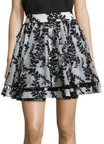 Zimmermann Winsome Silk Embroidered Skirt