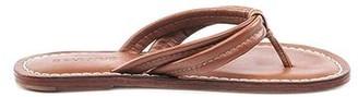 Bernardo Miami Tan Leather Flip Flop