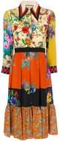 Gucci Patchwork print dress