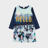 Paul Smith Girls' 2-6 Years Navy Hello Print 'Maliana' Dress
