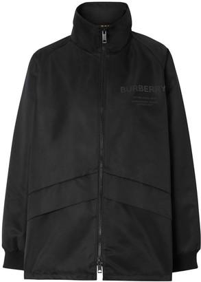 Burberry Horseferry Print Lightweight Funnel Neck Jacket