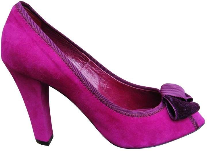 Marc Jacobs Pink Suede Heels