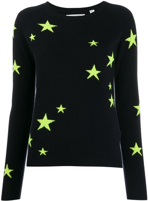 Chinti and Parker Cashmere Fluorescent Star Jumper
