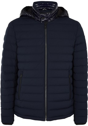 Moose Knuckles Black Rock Navy Quilted Shell Jacket