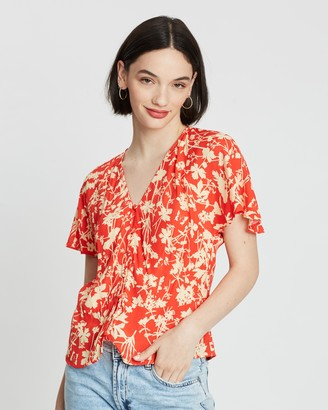 Mng Floral Print Blouse