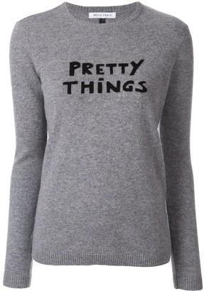 Bella Freud Pretty Things slogan sweater