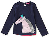 Joules Little Girls 1-6 Long-Sleeve Horse-Applique Top