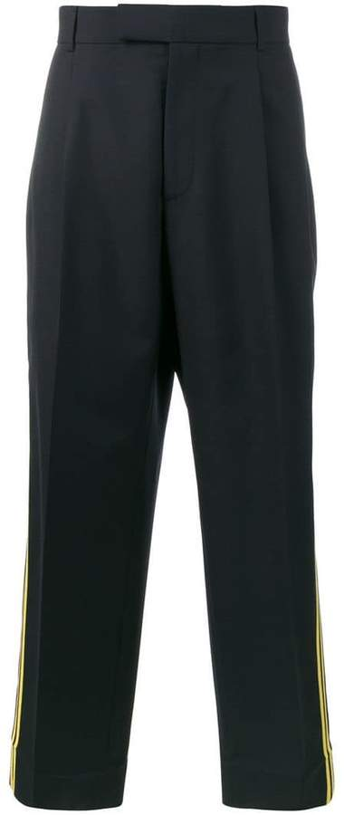 Gucci double stripe cropped trousers