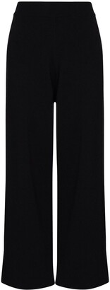 Frankie Shop Ribbed-Knit Cropped Trousers