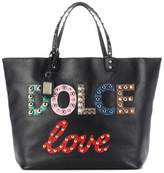 Dolce & Gabbana Beatrice embellished leather shopper
