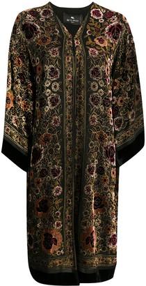 Etro Floral Silk Coat