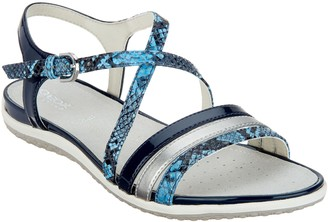 Geox Leather Cross-Strap Sandals - Vega