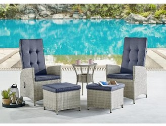 Highland Dunes Pangburn 5 Piece Rattan Complete Patio Set with Cushions