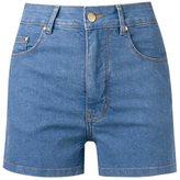 Amapô - high waist denim shorts - women - Cotton/Elastodiene - 38