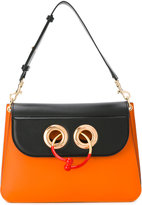 J.W.Anderson Medium Orange Black Pierce Shoulder Bag - women - Calf Leather - One Size