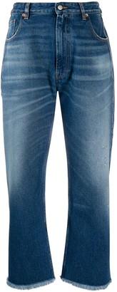 MM6 MAISON MARGIELA Frayed Hem Wide-Leg Jeans