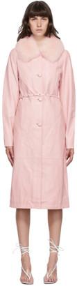 Saks Potts Pink Fur Charlot Coat