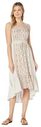 Lucky Brand Border Print Felice Dress (Natural Multi) Women's Dress
