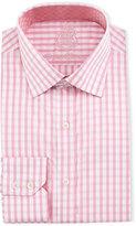 English Laundry Check Cotton Dress Shirt, Pink