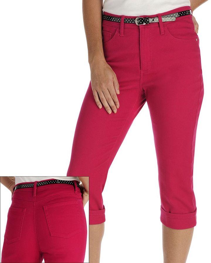 Lee marilyn classic fit slimming color denim capris