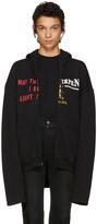 Vetements Black may The - Antwerp Zip Hoodie