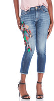 Alysi Embroidered Girlfriend Jeans