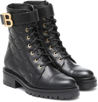 Balmain Ranger quilted leather combat boots