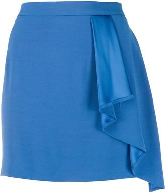 Patrizia Pepe Draped High-Waist Skirt