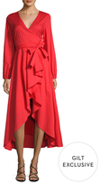 Lucca Couture Cotton Balloon Sleeve High Low Dress