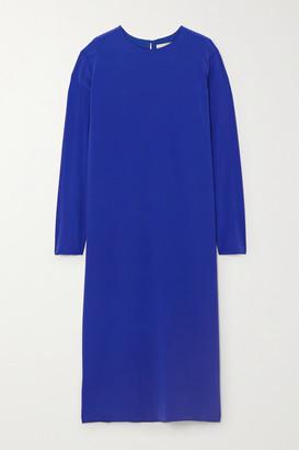 TOVE Nova Silk-crepe Midi Dress - Blue