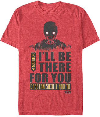 Star Wars Men's Tee Shirts RED - Red 'I'll Be There for You' K-2SO Tee - Men