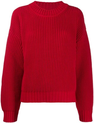 MSGM Ribbed Relaxed Jumper