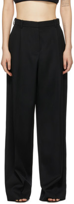 Nina Ricci Black Wool Baggy Straight-Leg Trousers