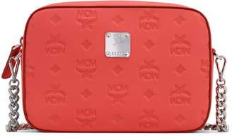 MCM Klara Monogram Embossed Leather Camera Bag
