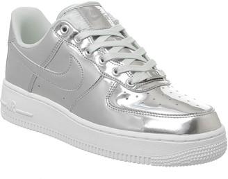 Nike Force 1 07 Trainers Chrome Metallic Silver