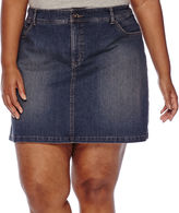 ST. JOHN'S BAY St. John's Bay Denim Skort - Plus