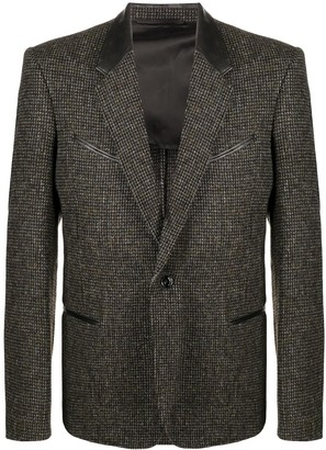 Lemaire Checked Single-Breasted Blazer