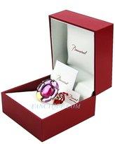 Baccarat Jewelry B Flower Vermeil Silver Peony Mirror Large Ring Sz 6,5